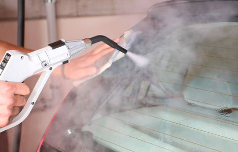 Car glass cleaning application