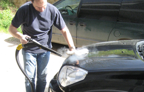 Car duco dry steam cleaning