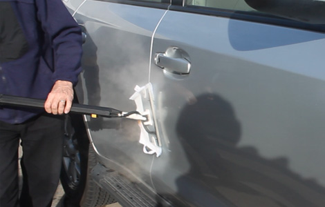 Car Duco cleaning with Evo steamer