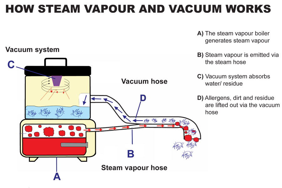 How Steam and Vacuum works in Car Cleaning Equipment